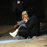 13.JUNE.2011. LONDON<br /> <br /> TAYLOR MOMSEN SITTING ON THE FLOOR SMOKING AT KINGS COLLEGE ON THE STRAND WHERE SHE PERFORMED AT A MUSIC LABEL PARTY BEFORE HEADING TO EMBASSY NIGHT CLUB IN MAYFAIR.<br /> <br /> BYLINE: EDBIMAGEARCHIVE.COM<br /> <br /> *THIS IMAGE IS STRICTLY FOR UK NEWSPAPERS AND MAGAZINES ONLY*<br /> *FOR WORLD WIDE SALES AND WEB USE PLEASE CONTACT EDBIMAGEARCHIVE - 0208 954 5968*