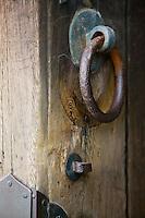 Japan Nara Todai-ji Temple Door knobs of shrine close-up