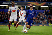 Chelsea FC forward Eden Hazard (10) on the ball during the Europa League match between Chelsea and MOL Vidi at Stamford Bridge, London, England on 4 October 2018.
