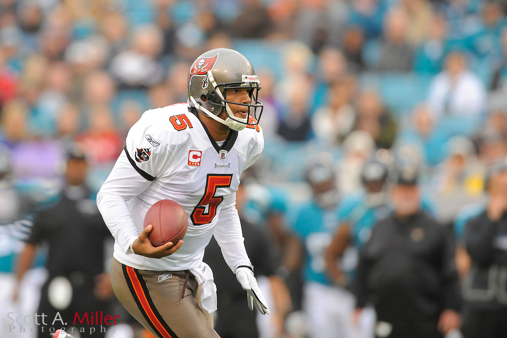 Tampa Bay Buccaneers quarterback Josh Freeman (5) during the Buccaneers game against the Jacksonville Jaguars at EverBank Field on Dec. 11, 2011 in Jacksonville, Fla. ..©2011 Scott A. Miller