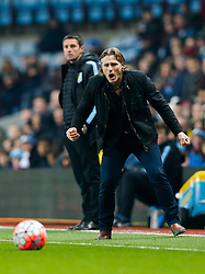 Wycombe Wanderers Manager Gareth Ainsworth shouts - Mandatory byline: Rogan Thomson/JMP - 19/01/2016 - FOOTBALL - Villa Park Stadium - Birmingham, England - Aston Villa v Wycombe Wanderers - FA Cup Third Round Replay.