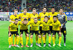 Team BVB during football match between WAC Wolfsberg (AUT) and  Borussia Dortmund (GER) in First leg of Third qualifying round of UEFA Europa League 2015/16, on July 30, 2015 in Wörthersee Stadion, Klagenfurt, Austria. Photo by Vid Ponikvar / Sportida