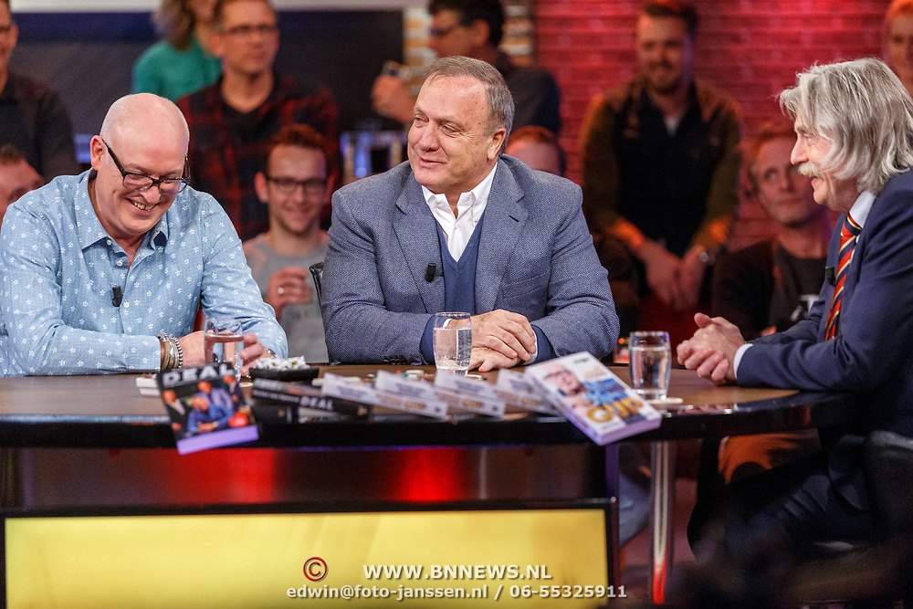 NLD/Hilversum/20171215 - Dick Advocaat te gast bij Voetbal Inside, Rene van der Gijp, Dick Advocaat en Johan Derksen