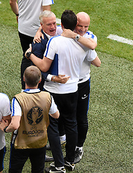 France Manager Didier Deschamps celebrates  - Mandatory by-line: Joe Meredith/JMP - 26/06/2016 - FOOTBALL - Stade de Lyon - Lyon, France - France v Republic of Ireland - UEFA European Championship Round of 16
