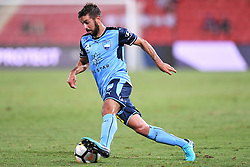 January 8, 2018 - Brisbane, QUEENSLAND, AUSTRALIA - Michael Zullo of Sydney (7) dribbles the ball during the round fifteen Hyundai A-League match between the Brisbane Roar and Sydney FC at Suncorp Stadium on Monday, January 8, 2018 in Brisbane, Australia. (Credit Image: © Albert Perez via ZUMA Wire)