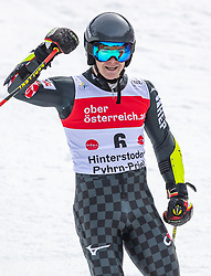 02.03.2020, Hannes Trinkl Weltcupstrecke, Hinterstoder, AUT, FIS Weltcup Ski Alpin, Riesenslalom, Herren, 2. Lauf, im Bild Filip Zubcic (CRO, 2. Platz) // second placed Filip Zubcic of Croatia reacts after his 2nd run of men's Giant Slalom of FIS ski alpine world cup at the Hannes Trinkl Weltcupstrecke in Hinterstoder, Austria on 2020/03/02. EXPA Pictures © 2020, PhotoCredit: EXPA/ Johann Groder