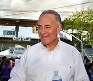 United States Senator Charles E Schumer (Democrat - New York) at Bellmore Family Street Fair on September 18, 2011, in Bellmore, Long Island, New York.