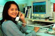 MALAYSIA, KUALA LUMPUR Ta Securities, Islamic woman trading