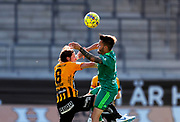 GOTHENBURG, SWEDEN - JULY 19: Erik Friberg of BK Hacken and Leonel Strumia of FK Liepaja competes for the ball during the UEFA Europa League Qualifier match between BK Hacken and FK Liepaja at Bravida Arena on July 19, 2018 in Gothenburg, Sweden. Photo by Nils Petter Nilsson/Ombrello ***BETALBILD***