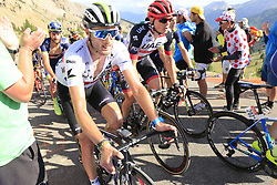 Riders including Stephen Cummings (GBR) Dimension Data climb Col d'Izoard during Stage 18 of the 104th edition of the Tour de France 2017, running 179.5km from Briancon to the summit of Col d'Izoard, France. 20th July 2017.<br /> Picture: Eoin Clarke | Cyclefile<br /> <br /> All photos usage must carry mandatory copyright credit (© Cyclefile | Eoin Clarke)