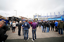A general view of the fan zone at Goodison Park - Mandatory byline: Matt McNulty/JMP - 07966386802 - 12/09/2015 - FOOTBALL - Goodison Park -Everton,England - Everton v Chelsea - Barclays Premier League