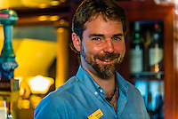 Bartender, Wilderness Explorer (small cruise ship), Nakwasina Sound,  Inside Passage, Southeast Alaska USA.