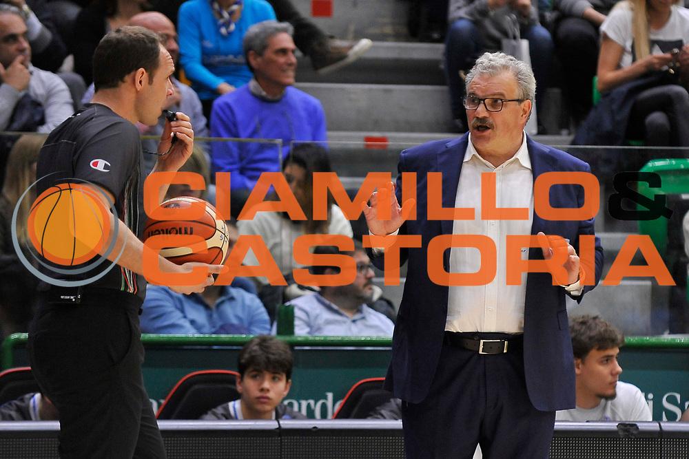Romeo Sacchetti - Manuel Mazzoni<br /> Banco di Sardegna Dinamo Sassari - Enel New Basket Brindisi<br /> LegaBasket Serie A LBA Poste Mobile 2016/2017<br /> Sassari 02/04/2017<br /> Foto Ciamillo-Castoria