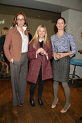 Left to right, VANESSA ARELLE, LISA FAULKENER and JEMIMA HUNT at a ladies lunch hosted by Thomasina Miers was held at her restaurant Wahaca, 19-23 Charlotte Street, London W1 on 10th January 2014.