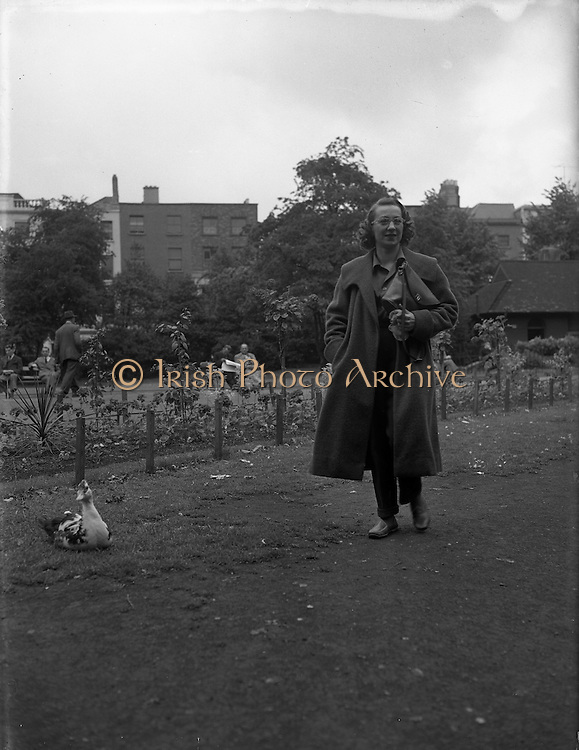 Maureen Potter Comeian 1956 - 29:06  .Maureen Potter, out and about, Dublin, Ireland.  .Maureen Potter on the phone, Dublin, Ireland.    Maureen Potter head and shoulder, Maureen Potter portrait.<br />