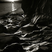 Rock formations, Tralee bay, Benderloch, Oban