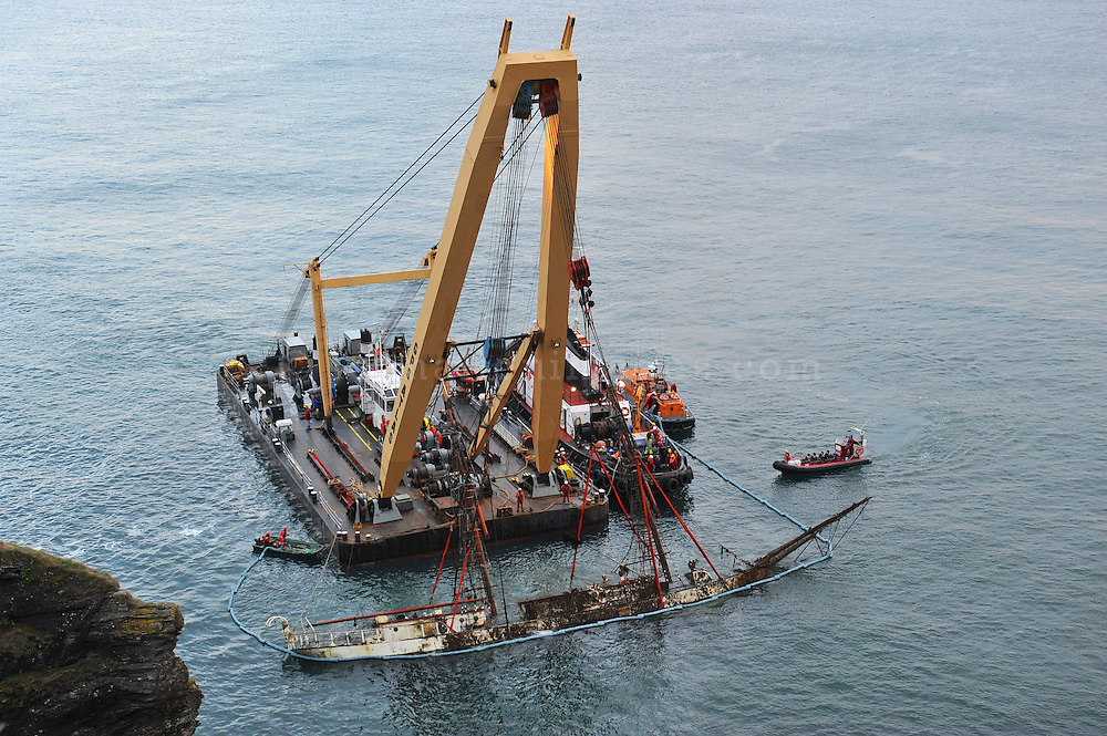 The Astrid being raised.