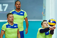 Katowice, Poland - 2017 September 02: (R) Partner Sergei Jampolski from SO Russia receives the ball while SO Russia versus SO Czech Republic semifinal match during European Unified Volleyball Tournament 2017 at Spodek Hall on September 02, 2017 in Katowice, Poland.<br /> <br /> Adam Nurkiewicz declares that he has no rights to the image of people at the photographs of his authorship.<br /> <br /> Picture also available in RAW (NEF) or TIFF format on special request.<br /> <br /> Any editorial, commercial or promotional use requires written permission from the author of image.<br /> <br /> Image can be used in the press when the method of use and the signature does not hurt people on the picture.<br /> <br /> Mandatory credit:<br /> Photo by © Adam Nurkiewicz / Mediasport