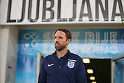 England Manager Gareth Southgate (caretaker) during a general stadium walk around before the Slovenia vs England FIFA World Cup Group F Qualifier match at Stadion Stozce, Ljubljana, Slovenia on 10 October 2016. Photo by Phil Duncan.