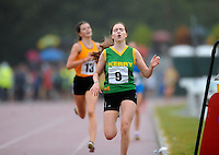 21 Aug 2016: Shona O'Brien, from Kerry, winning the Girls U16 1500m final.  2016 Community Games National Festival 2016.  Athlone Institute of Technology, Athlone, Co. Westmeath. Picture: Caroline Quinn