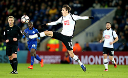 Julien de Sart of Derby County controls the ball - Mandatory by-line: Robbie Stephenson/JMP - 08/02/2017 - FOOTBALL - King Power Stadium - Leicester, England - Leicester City v Derby County - Emirates FA Cup fourth round replay