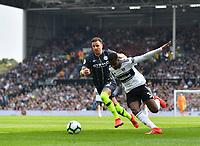 Football - 2018 / 2019 Premier League - Fulham vs. Manchester City<br /> <br /> Fulham's Ryan Sessegnon battles for possession with Manchester City's Kyle Walker, at Craven Cottage.<br /> <br /> COLORSPORT/ASHLEY WESTERN