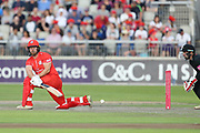 Lancashires Steven Croft during the Vitality T20 Blast North Group match between Lancashire Lightning and Leicestershire Foxes at the Emirates, Old Trafford, Manchester, United Kingdom on 3 August 2018. Picture by George Franks.