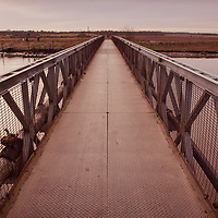 On the river in Suffolk at Walberswick with the footbridge
