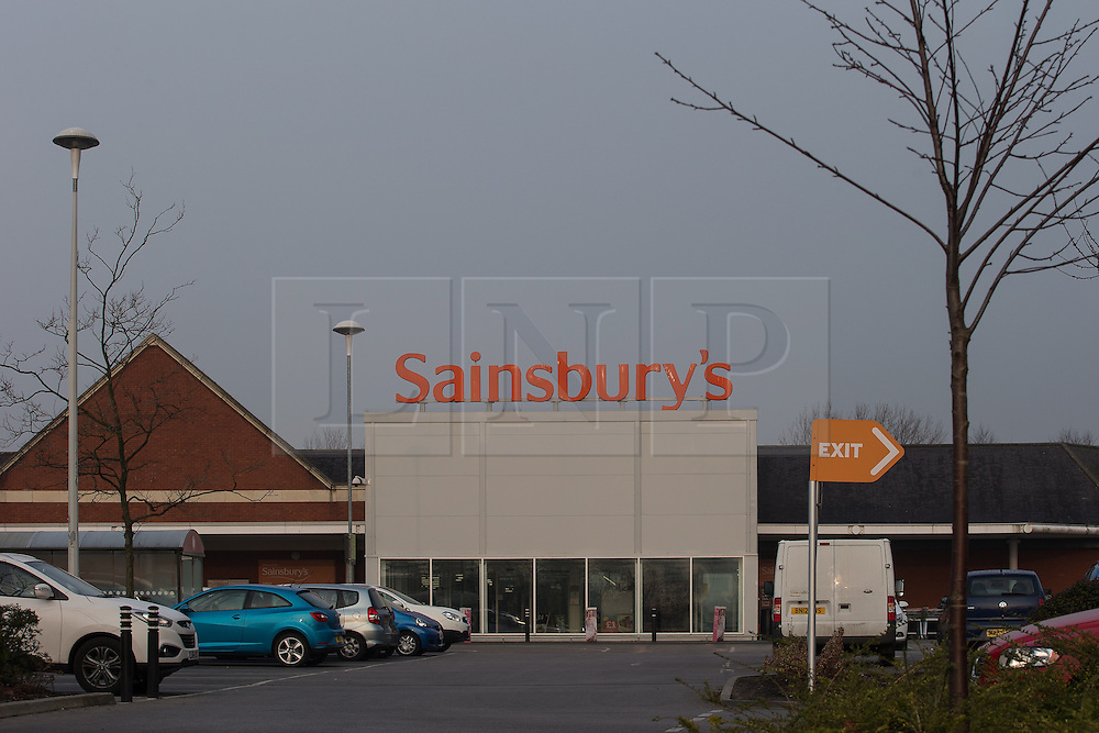 """© Licensed to London News Pictures . 18/03/2015 . Manchester , UK . GV of Sainsbury's supermarket on Regent Road in Salford . Liam Gary Edwards (29) appears at Manchester Magistrates Court this morning (18th March 2015) charged with Causing Racially or Religiously Aggravated Criminal Damage . On 18th February 2015 , stickers reading """" Beware! Halal is barbaric and funds terrorism """" were discovered on products and displays in Sainsbury's supermarket , on Regent Road in Salford . Photo credit : Joel Goodman/LNP"""