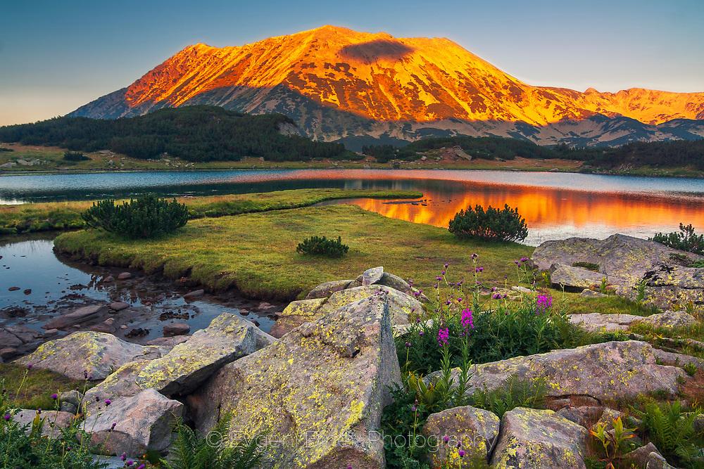 Scenery sunset from Pirin Mountain