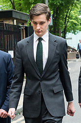 © Licensed to London News Pictures. 28/04/2017. London, UK. Conservative party aide SAMUEL ARMSTRONG appears at Southwark Crown Court on two alleged charges of rape. The alleged attack is said to have taken place in the Houses of Parliament Friday 14th October 2017.  Armstrong was working as an aide to South Thanet MP Criag Mackinlay. Photo credit: Ray Tang/LNP