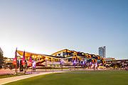 ICC Sydney Exhibition Centre at dusk
