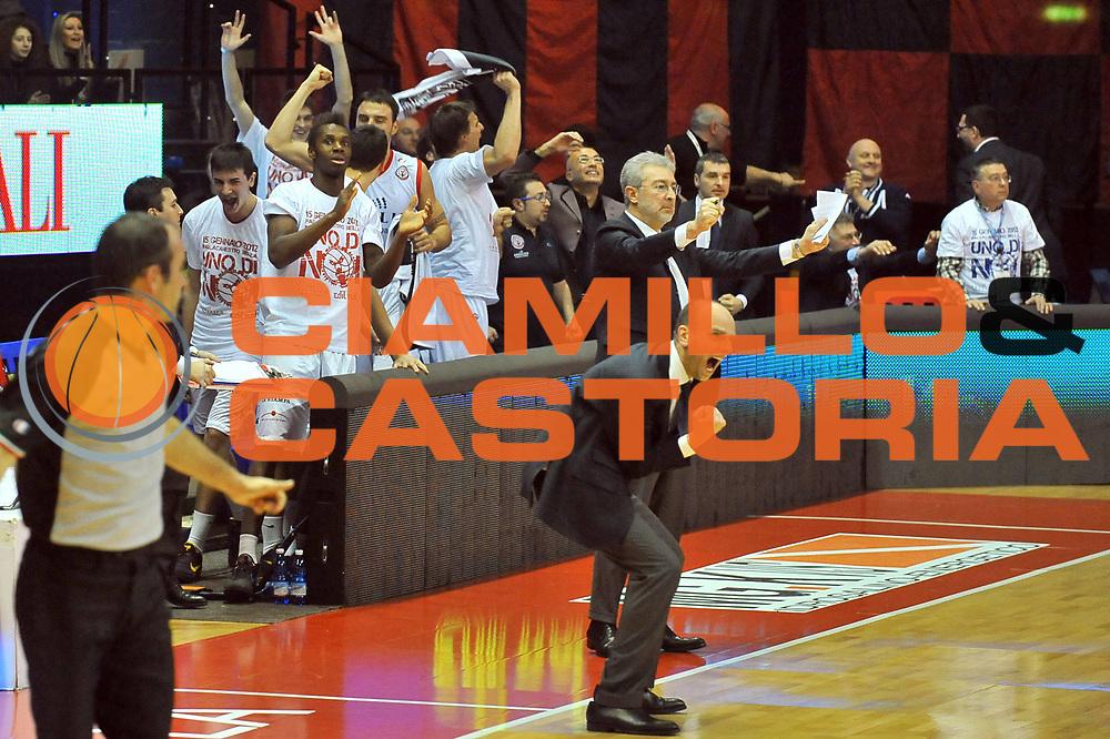 DESCRIZIONE : Biella Lega A 2011-12 Angelico Biella EA7 Emporio Armani Milano<br /> GIOCATORE : Massimo Cancellieri<br /> SQUADRA :  Angelico Biella <br /> EVENTO : Campionato Lega A 2011-2012 <br /> GARA : Angelico Biella  EA7 Emporio Armani Milano<br /> DATA : 15/01/2012<br /> CATEGORIA : Esultanza<br /> SPORT : Pallacanestro <br /> AUTORE : Agenzia Ciamillo-Castoria/ L.Goria<br /> Galleria : Lega Basket A 2011-2012 <br /> Fotonotizia : Biella Lega A 2011-12  Angelico Biella EA7 Emporio Armani Milano<br /> Predefinita :