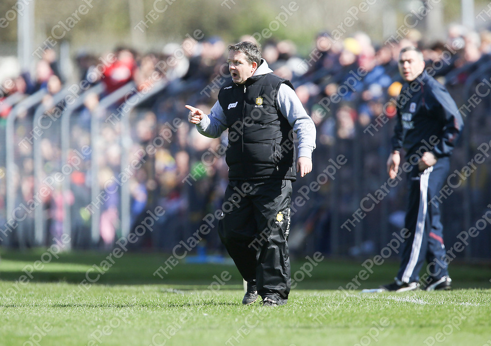 Clare Manager Davy Fitzgerald pictured during the Clare V Galway NHL Div 1A Game played in Cusack Park Ennis..<br /> Pictured Credit Brian Gavin Press 22