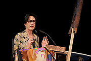 Kassel, Germany. Opening days of documenta14.<br /> Opening Press Conference at Kongress Palais Kassel.<br /> Hortensia V&ouml;lckers, Artistic Director of the German Federal Cultural Foundation