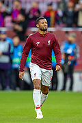 Liverpool midfielder Georginio Wijnaldum (5) comes onto the pitch to warm up ahead of the Champions League semi-final leg 1 of 2 match between Barcelona and Liverpool at Camp Nou, Barcelona, Spain on 1 May 2019.