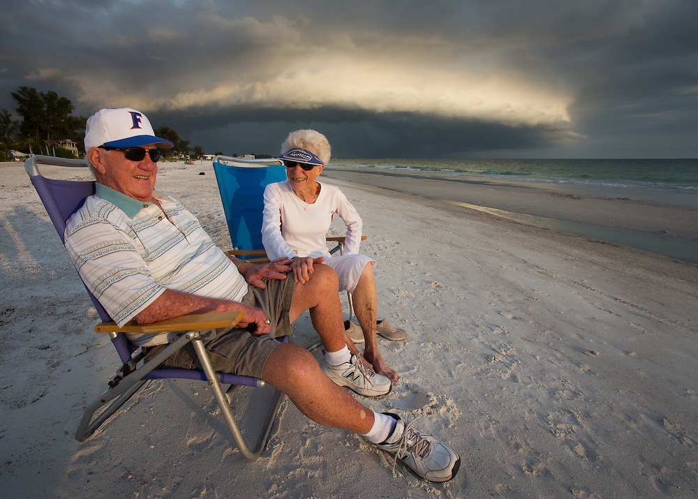 Ruth and Marvin Brice have been married for 62 years and live retired on Anna Maria, Florida, the same place where they honeymooned 62 years earlier. They watch the sunset on Holmes Beach a few blocks from their house every day.