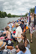 Henley Royal Regatta, Henley on Thames, Oxfordshire, 29 June-3 July 2015.  Saturday  12:10:46   02/07/2016  [Mandatory Credit/Intersport Images]<br /> <br /> Rowing, Henley Reach, Henley Royal Regatta.<br /> <br /> Crowds lining the Towpath
