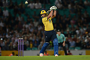 Colin de Grandhomme of Birmingham Bears batting during the NatWest T20 Blast South Group match between Surrey County Cricket Club and Warwickshire County Cricket Club at the Kia Oval, Kennington, United Kingdom on 25 August 2017. Photo by Dave Vokes.