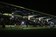 Floodlight failure during the second half  during the EFL Cup match between Burton Albion and Bournemouth at the Pirelli Stadium, Burton upon Trent, England on 25 September 2019.