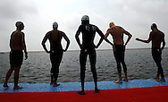 Before the start<br /> Men's 5 Km Open Water<br /> Shanghai 22/7/2011 <br /> 14th FINA World Championships<br /> Foto Andrea Staccioli Insidefoto