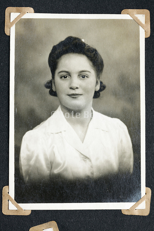 vintage studio portrait of young adult female person