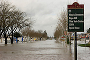 Napa, California flood on New Year's Eve 2005. Soscol Ave looking north