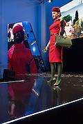 Presentation of new Alitalia staff uniform at Alitalia Day, in Milan, May 19, 2016. The new uniforms are created by fashion designer Ettore Bilotta. &copy; Carlo Cerchioli<br /> <br /> Presentazione delle nuove divise per il personale Alitalia all'Alitalia Day, Milano 19 Maggio 2016. Le nuove divise sono state create dallo stilista Ettore Bilotta.