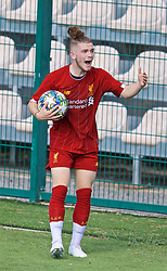 NAPLES, ITALY - Tuesday, September 17, 2019: Liverpool's Harvey Elliott reacts during the UEFA Youth League Group E match between SSC Napoli and Liverpool FC at Stadio Comunale di Frattamaggiore. (Pic by David Rawcliffe/Propaganda)