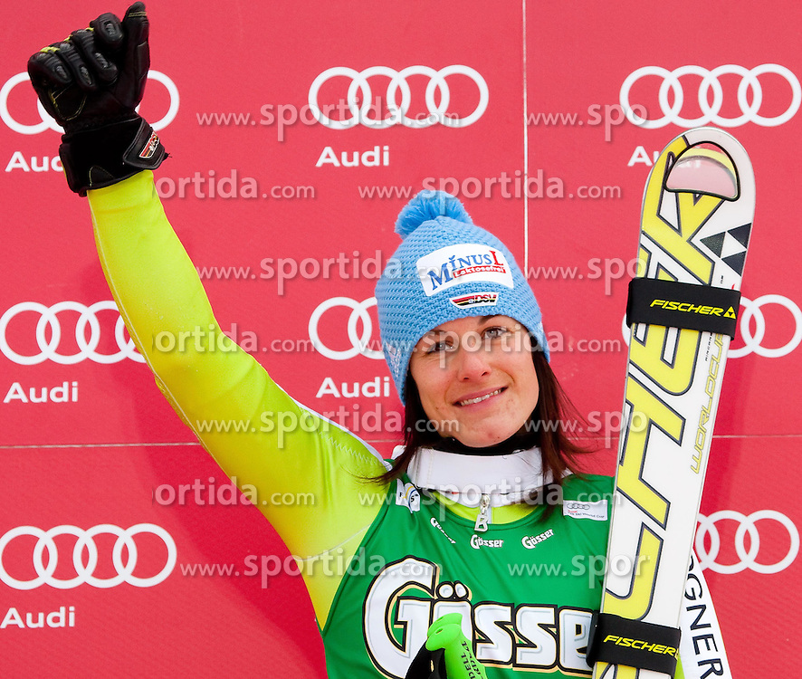28.12.2010, Panoramapiste, Semmering, AUT, FIS World Cup Ski Alpin, Ladies, Giant Slalom, Bild zeigt Kathrin Hoelzl (GER) 3rd in the FIS Ladies Alpine World Cup giant slalom race, EXPA Pictures © 2010, PhotoCredit: EXPA/ M. Gunn