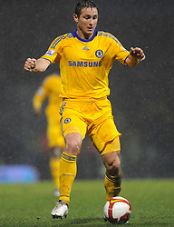 Frank Lampard (Chelsea) controls the ball during the Barclays Premier League match between Portsmouth and Chelsea at Fratton Park on March 3, 2009 in Portsmouth, England.
