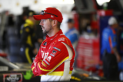 March 2, 2018 - Las Vegas, Nevada, United States of America - March 02, 2018 - Las Vegas, Nevada, USA: Michael Annett (5)  hangs out in the garage during practice for the Boyd Gaming 300 at Las Vegas Motor Speedway in Las Vegas, Nevada. (Credit Image: © Justin R. Noe Asp Inc/ASP via ZUMA Wire)