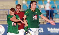Fabijan Cipot  (6) of Rudar after 6th Round of PrvaLiga Telekom Slovenije between NK Primorje Ajdovscina vs NK Rudar Velenje, on August 24, 2008, in Town stadium in Ajdovscina. Primorje won the match 3:1. (Photo by Vid Ponikvar / Sportal Images)