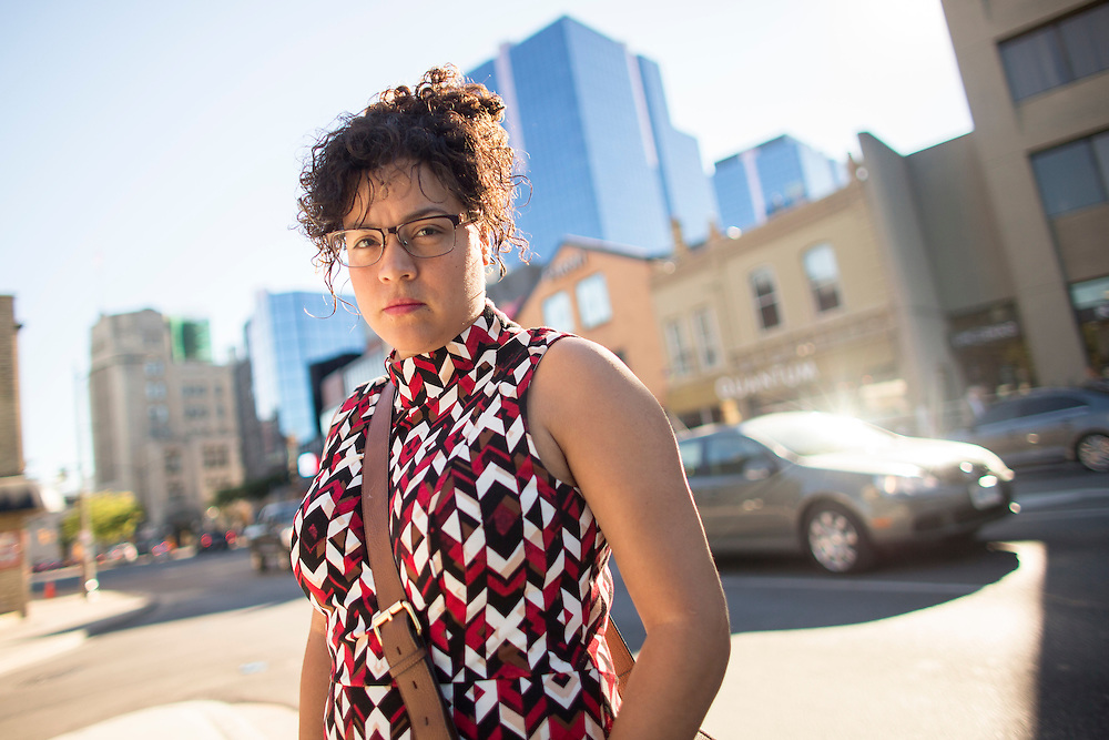 London, Ontario ---2016-09-24--- Viviana Moran poses for a photo near her home in downtown London, Ontario, September 24, 2016. Viviana, originally from Ecuador, who originally came to Canada to study at Bishops University in Quebec is now being forced to quit her job and leave after her work visa was not extended.<br /> GEOFF ROBINS The Globe and Mail